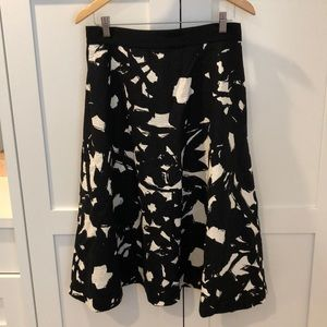 Beautiful A-line Black & White Skirt